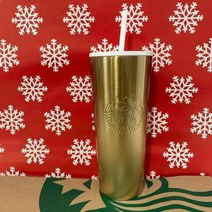 🎀 Starbucks Glitter Gradient Gold Cold Cup 24oz